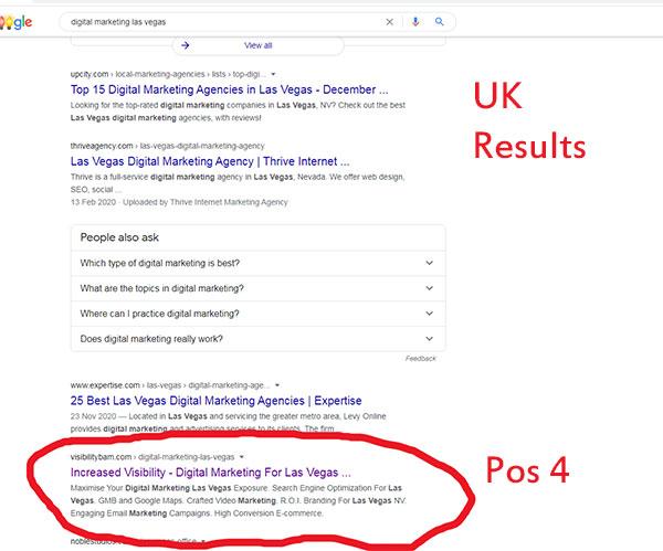 Google position 4