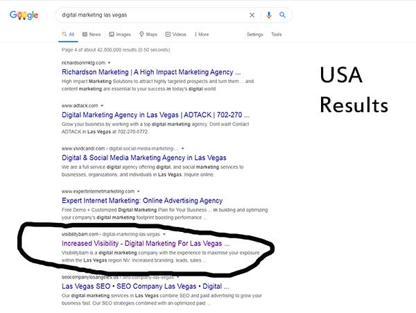 Google USA Results