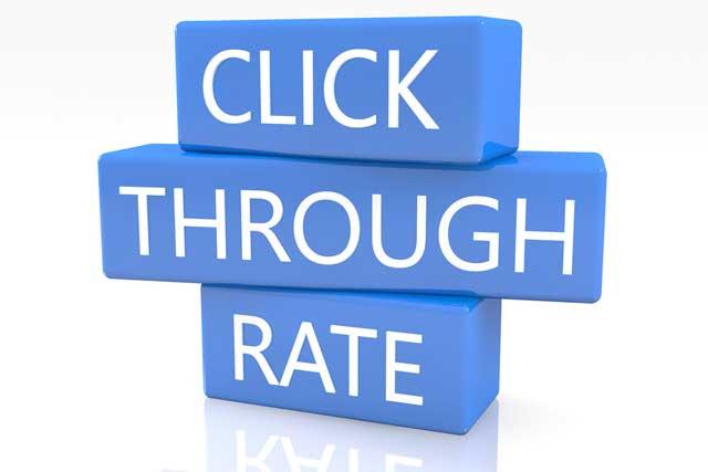 click through rate (CTR)